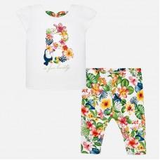 Комплект футболки с леггинсами с тропической расцветкой Mayoral