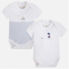 Боди для новорожденного в наборе Mayoral (Майорал) синий оттенок
