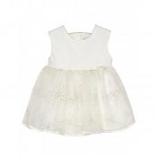 Платье на девочку Mayoral (Майорал) молочного оттенка