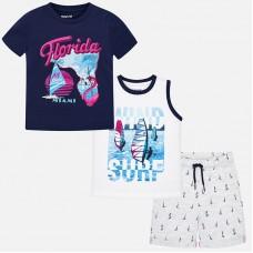 Комплект  на мальчика( футболка,майка,шорты) Mayoral
