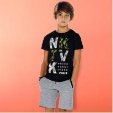 Трикотажный  комплект: футболка, майка, шорты для мальчика.