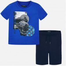"""Комплект """"синий"""" футболки и шорты  для мальчиков Mayoral"""