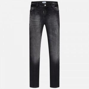 Комбинированные джинсы для девочки Mayoral серого оттенка