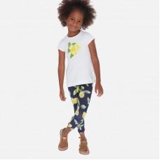 """Комплект : футболка,леггинсы """"лимон""""  Mayoral (Майорал) для девочки"""