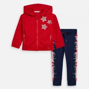 Спортивный костюм Mayoral (Майорал) для девочки красного оттенка