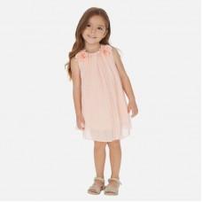 Платье на девочку Mayoral (Майорал) пудрового оттенка