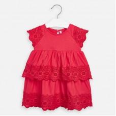 Платье с вышивкой Mayoral (Майорал) для девочки малинового оттенка