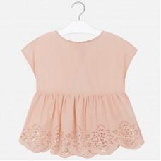 Блуза Mayoral (Майорал) для девочки нюдовый оттенок