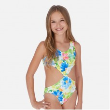 Слитный купальник на девочку Mayoral (Майорал) фисташковый оттенок