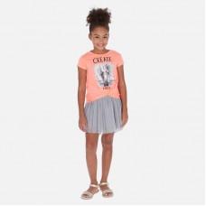 Платье Mayoral (Майорал) для девочки оттенок фламинго