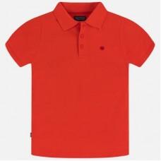 Поло Mayoral (Майорал) для мальчика красного оттенка