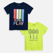 Набор футболок Mayoral (Майорал) для мальчика синего оттенка