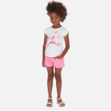 Шорты Mayoral (Майорал) для девочки розового оттенка