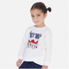 Свитшот Mayoral (Майорал) для девочки молочного оттенка