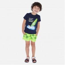 Шорты купальные Mayoral (Майорал) для мальчика неоновый оттенок