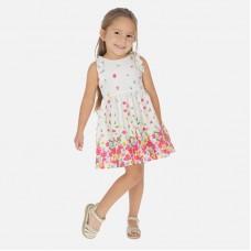 Платье Mayoral (Майорал) для девочки с цветочным принтом