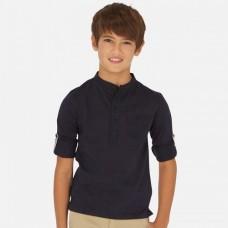 Рубашка Mayoral (Майорал) для мальчика синего оттенка