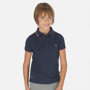 Поло Mayoral (Майорал) для мальчика синего оттенка