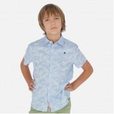 Рубашка Mayoral (Майорал) для мальчика голубого оттенка