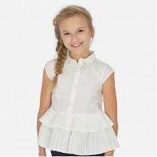 Блузка Mayoral (Майорал) для девочки молочного оттенка