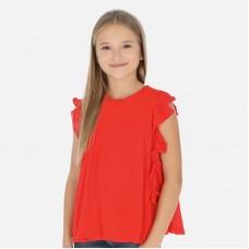 Блузка Mayoral (Майорал) для девочки красного  оттенка