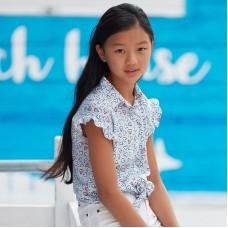 Блузка для девочки Mayoral (Майорал) с принтом сердечки