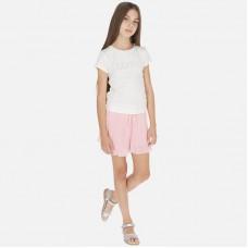 Юбка-шорты Mayoral (Майорал) для девочки пудровый оттенок