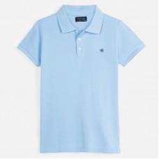 Поло Mayoral (Майорал) для мальчика голубого оттенка