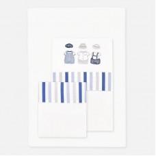 Набор для кроватки Mayoral (Майорал) для новорожденного голубой оттенок