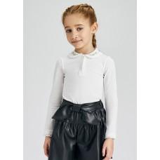 Рубашка-поло на девочку Mayoral (Майорал) молочного оттенка