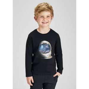 """Лонгслив """"космонавт"""" Mayoral (Майорал) для мальчика синий оттенок"""