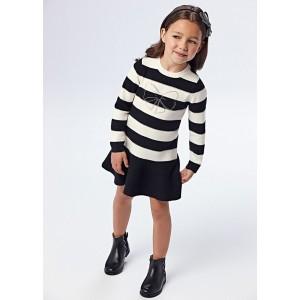 Комбинированное - трикотажное  платье на девочку Mayoral (Майорал)