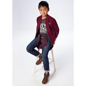 Джинсы regular fit на мальчика Mayoral (Майорал) синего оттенка