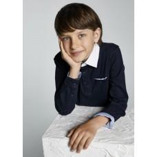 Рубашка-поло на мальчика Mayoral (Майорал) синего оттенка