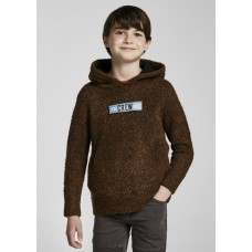 Худи трикотажное  для мальчика Mayoral (Майорал) коричневого оттенка