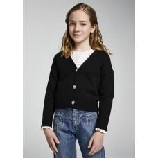 Жакет вязанный для девочки Mayoral (Майорал) черного оттенка
