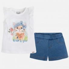 Комплект футболка+шорты для девочки Mayoral