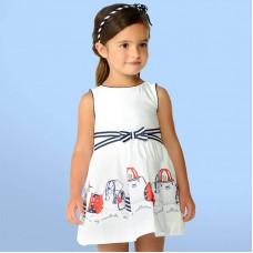 """Платье с принтом """" сумочки"""" Mayoral."""