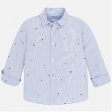 Рубашка Mayoral для мальчика - голубой цвет.