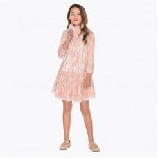 Бархатное платье с воротником Майорал