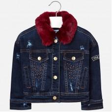 Джинсовая куртка с воротником для девочки  Мayoral.