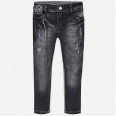 Комбинированные длинные джинсы для девочек Mayoral