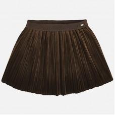 Бархатная плиссированная юбка для девочки Mayoral