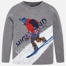 """Футболка Mayoral с длинным рукавом """"сноуборд"""""""