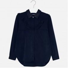 Джинсовая блузка для девочки Mayoral