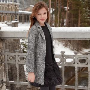 Пальто демисезонное серо-черное Майорал.