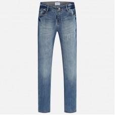 Комбинированные джинсы для девочки Mayoral