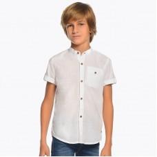 Рубашка Mayoral с коротким рукавом 100% хлопок.