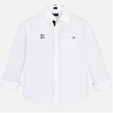 Рубашка Mayoral с длинным рукавом белая.