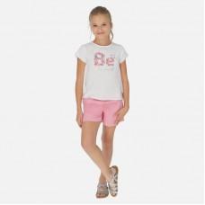 Шорты Mayoral (Майорал) для девочки розовый оттенок